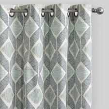 Window And Shower Curtain Sets Indigo Blue Cotton Morris Curtains Set Of 2 World Market