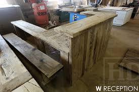 Reclaimed Wood Reception Desk Custom Reclaimed Wood Reception Desk Burlington Ontario Gerald