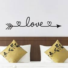 wall stickers home decor wall decals and stickers new design love arrow wall decals vinyl