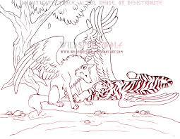 romantic wolf and tiger sketch by wildspiritwolf on deviantart