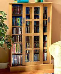 Large Dvd Storage Cabinet Bookcase Tall Double Wide Dvd Cd Wall Storage Bookcase Dvd