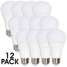 60 watt light bulb lumens a19 led 800 lumens 10 watts warm white 12 pack