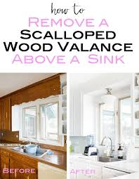 kitchen cabinets above sink removing the scalloped wood valance the kitchen sink