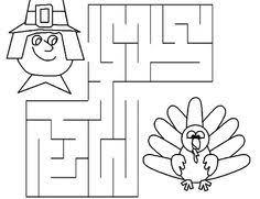 3 thanksgiving mazes thanksgiving worksheets for kindergarten