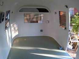 Vintage Airstream Interior by 1963 Airstream Safari Interior Skin Paint And Flooring