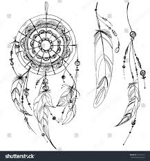 royalty free set of ornaments feathers and 322151513