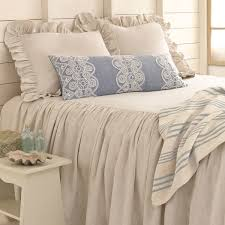 bedroom chic pine cone hill savannah linen chambray dove grey