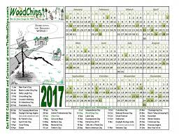 free calendars 2017 the woodchips