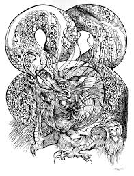 chinese dragon tattoo design black and white tattoo drawings google search coloring book