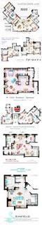floor plans from some tv series cose divertenti appartamenti