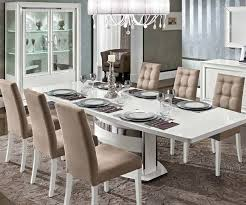 High Gloss Extending Dining Table Camel Dama Dama White High Gloss Extending