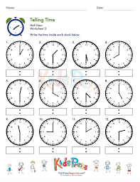telling time practice bundle kidspressmagazine com