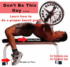 Barbell Bench Press Technique Correct Bench Press Technique For A Better Physique Fit Tip Daily
