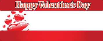 happy valentines day banner valentines day personalised banners partyrama