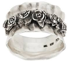 silver rose rings images Or paz sterling silver gathered rose ring page 1 001