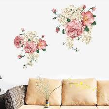 canap de charme charme 3d pivoine wall sticker pour chambres familiales fleur bloom