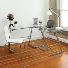 Black Metal And Glass Computer Desk by Walker Edison 3 Piece Contemporary Desk Black Best Home