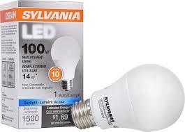 100 watt led light bulb sylvania 100w equivalent led light bulb a19 l 1 pack