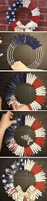 clothespin wreath diy memorial day decor ideas for the home