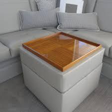 furniture oversized pouf ottoman round leather ottoman table