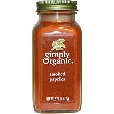 smoky paprika simply organic organic smoked paprika 2 72 oz 77 g iherb
