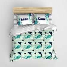 Personalized Comforter Set Arctic Babies Minimalist Kids Bedding Personalized Bedding Set