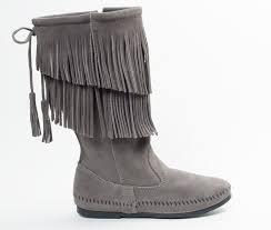 minnetonka womens boots size 11 s 2 layer fringe boot minnetonka