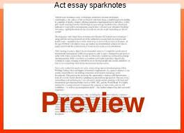 act essay sparknotes research paper academic writing service