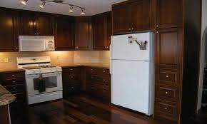 Kitchen Cabinets Trim by Kitchen Cabinet Antique White Cabinets With Oak Trim Small Oil