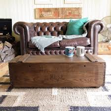 industrial vintage rustic country wood plank chest box tv stand