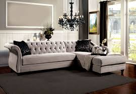 Tufted Sectional Sofas Grey Vintage Tufted Sectional Sofa