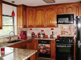 red kitchen accents red accent kitchen backsplash tile kitchen