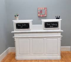 White Reception Desk Cottage Chic Antique Painted White Store Counter French