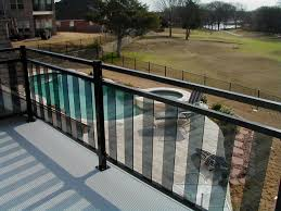 Patio Railing Designs Architecture Deck Railing Idea With Clear Glass Near Small
