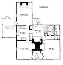 center colonial floor plan early farmhouse floor plans house scheme