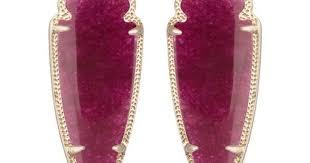 kendra scott black friday skylar earrings in maroon jade by kendra scott black friday cyber