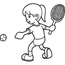 playing tennis coloring pages wecoloringpage