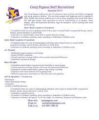 Resume Summer Job by Summer Camp Jobs
