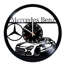 mercedes amg handmade vinyl record wall clock cool design vinyl