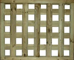 Timber Trellis Square Trellis Pattern Log Fence Panel Bingley Fencing And