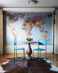 Rugs For Dining Room by World Map Old Classroom Chairs Bistro Table Cowhide Rug U003d My