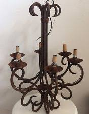 Wrought Iron Chandeliers Mexican Iron Antique Chandeliers Fixtures U0026 Sconces Ebay