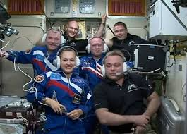 soyuz crew arrive safely at the iss after solar array deployment