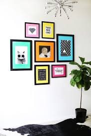 25 ideas to decorate your walls a beautiful mess so fun colored mat gallery wall