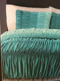aqua ruffle comforter cynthia rowley ombre ruched duvet comforter set twin xl aqua