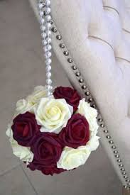 Flower Ball Flower Pomander Ball For A Blush And Gold Wedding Our Blush