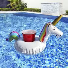 amazon com gofloats inflatable unicorn drink holder 3 pack