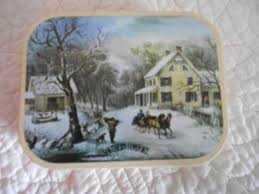 Southern Comfort Merchandise Vintage Hudson Scott Sons Southern Comfort Holiday Tin With 4 Pc