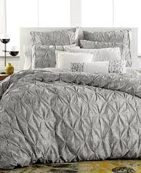 bar iii diamond pleat full queen duvet cover bedding collections