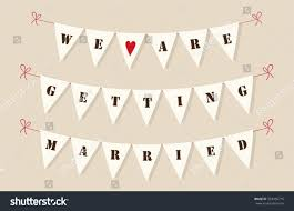 Bunting Flags Wedding Cute Vintage Bunting Flags Hearts Letters Stock Vector 354936716